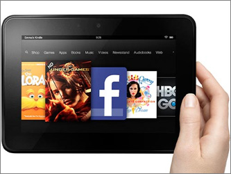 Amazon сравнила Kindle Fire HD с iPad mini