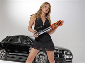 Фото девушки с автозапчастями