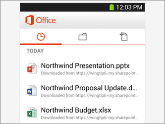 MS Office заработал на Android