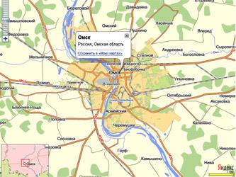Яндекс карты карту омска